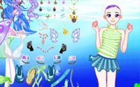 dolphin swimming dressup